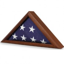 Deluxe Walnut Wood Case for 5'x9' flag